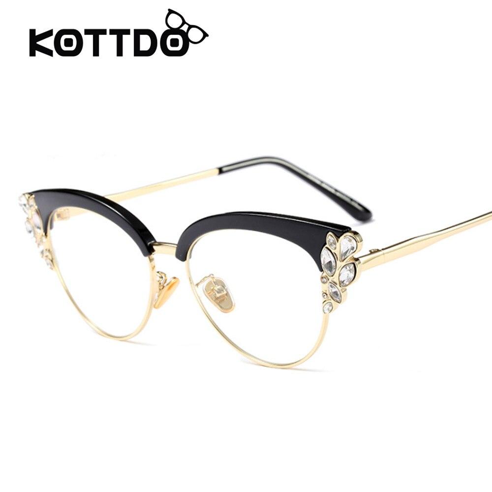 Online-Shop Mode Frauen Rote Katze Augenglasrahmen Markendesigner ...