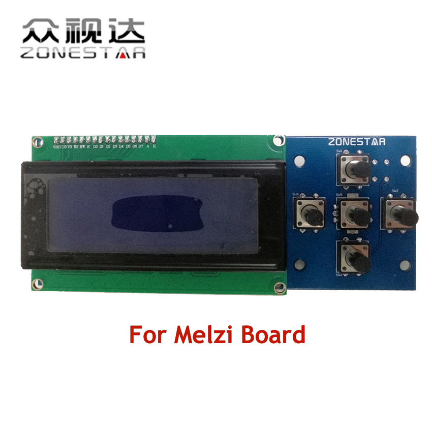 2004 LCD display and 5 KEYS KEYPAD Melzi board RepRap 3D Printer kit Mendel Prusa i3 5 KEYS ZONESTAR P802D P802S P802G  P802Q