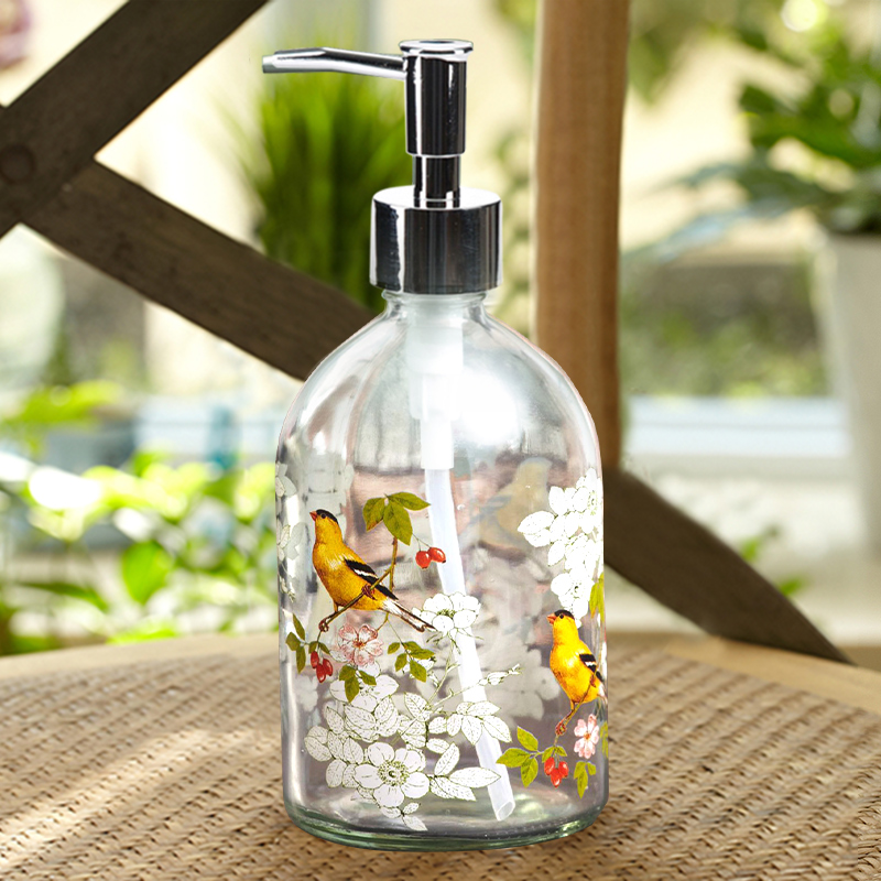 New arrival 500ml glass lotion pump soap dispenser bath for Bathroom bottles