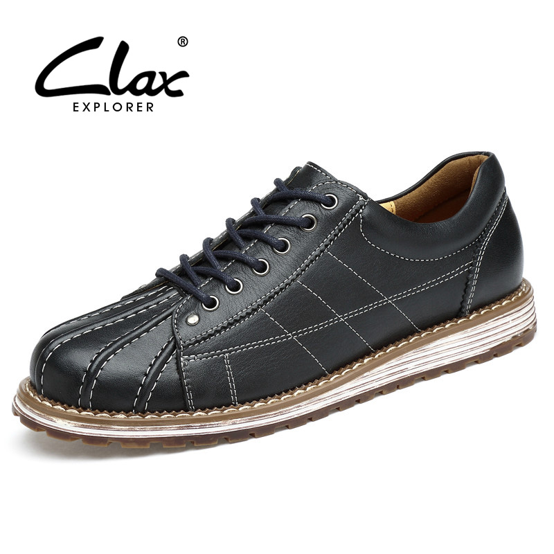 CLAX Men's Shoes Leather 2017 Autumn Shoe Male Genuine Leather Designer Casual Footwear British Shoe Handmade Leisure Shoe