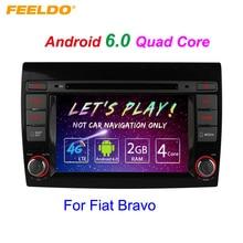 7″ Android 6.0 (64bit) DDR3 2G/16G/4G LTE Quad Core Car DVD GPS Radio Head Unit For Fiat Bravo(2007~2012) #2456