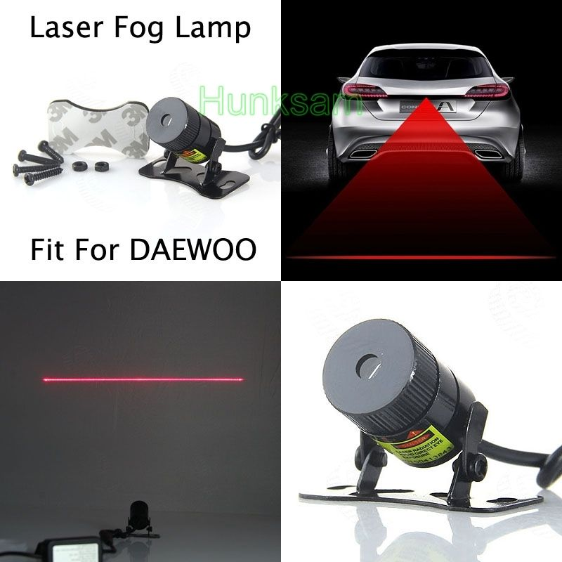 1x Laser Fog Lamp Anti-Fog Auto Rearing Driving Safety Signal Light For DAEWOO
