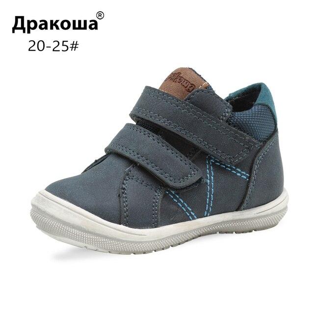 Apakowa/весенние ботильоны унисекс для маленьких мальчиков и девочек, детские дышащие кроссовки, прогулочная обувь на липучке для мальчиков, европейские размеры 20-25