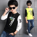Fashion 2017 Baby Boy Cotton Spring T-shirt Letter Print Kid Pullover Clothes Sport Children Autumn O-neck Tops Tees