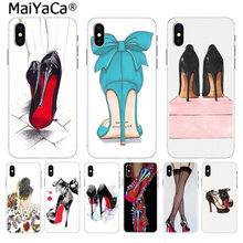 MaiYaCa Red ladies high heels Pattern Style Luxury Accessories phone case for iphone 11 pro 8 7 66S Plus X 5S SE XR XS XS MAX(China)