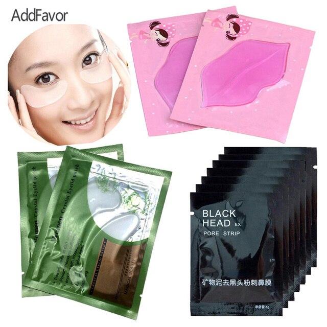 Addfavor Skin Care Beauty Makeup Set Tool Set Eye Bag Pad Nose Mask Lip Moisturizer Mask Blackhead Remover Cream Lip Care Pad