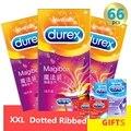 Preservativos Durex Magibox XXL Tamanho Grande Kondom 56mm Com Nervuras Pontilhada Morango Preservativo para Homens Adultos Brinquedos Sexuais Seguras Íntimo bens