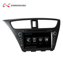 1024*600 Núcleo Octa Androide 6.0 Del Coche DVD GPS para Honda Civic 2014 con Radio BT Espejo Enlace WiFi DVR, ayuda OBD 3G/4G DAB +