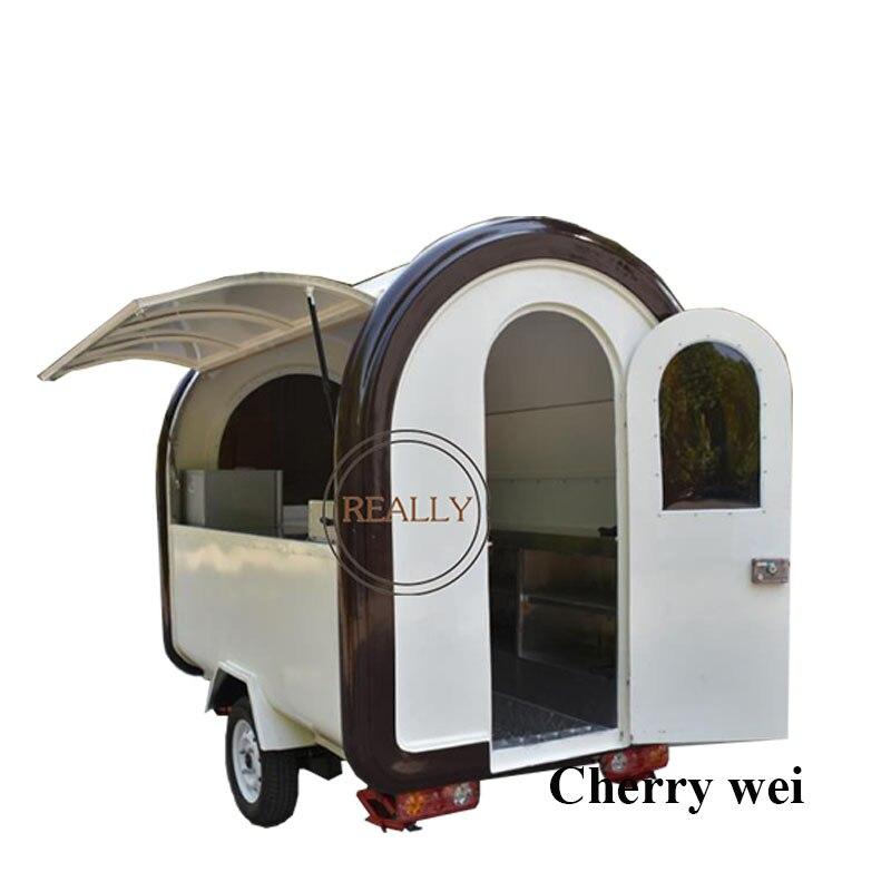 30% Deposit 1700USD Only For Jaime! Support Customization 220*160*210cm China Food Truck/Crepe Food Trailer/Hot Dog Cart Kiosk
