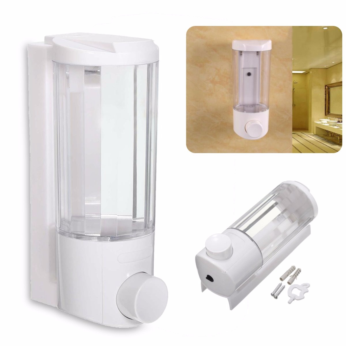 Soap And Shampoo Dispensers For Showers Kitchen Sanitizer Bathroom Liquid Soap Dispenser Wall