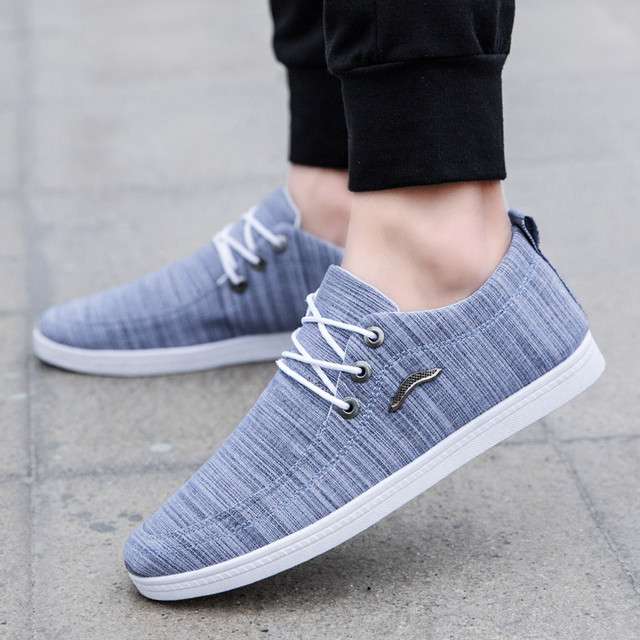 2019 Fashion mens casual shoes Outdoor Canvas Casual Lace-Up Shoes Lazy Shoes Breathable Sneakers chaussures homme#G
