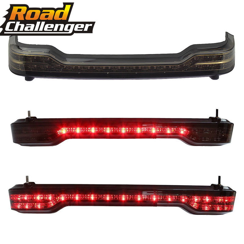 Pour Harley Touring coffre King 14-17 Tour Pack LED frein de queue en cours d'exécution lumière rouge clignotant lampe moto