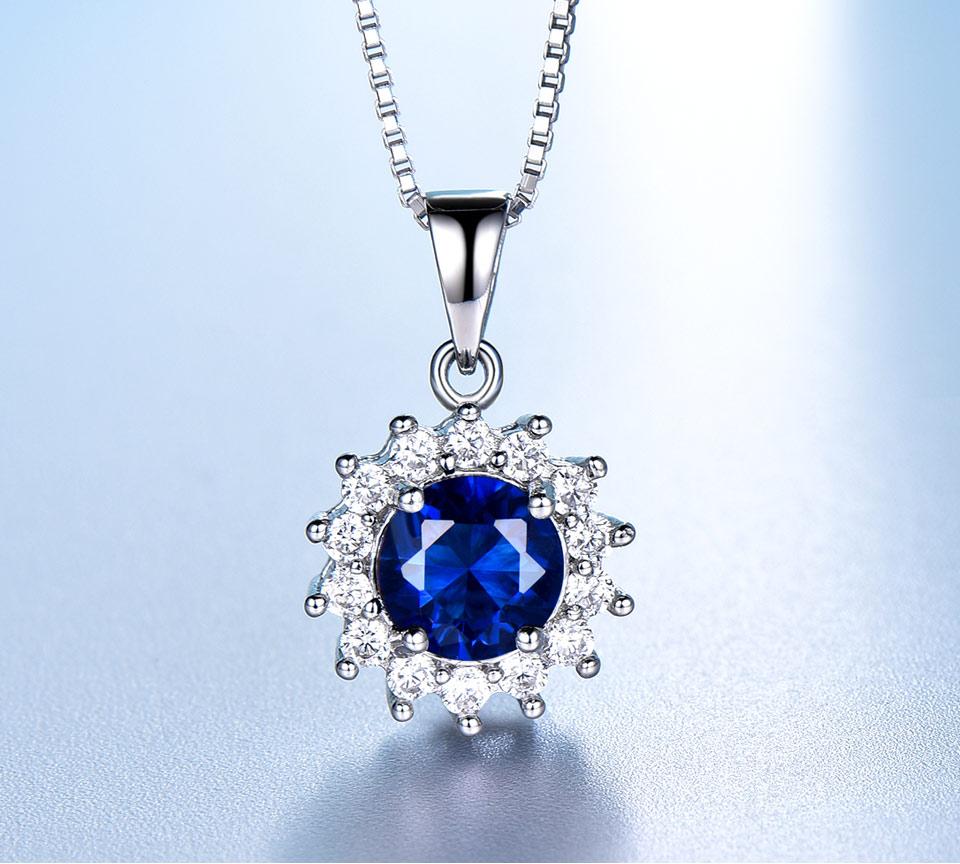 umcho blue sapphire  pendant for women brand fine jewelry NUJ032S-1 (2)