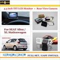"""Для SEAT Altea/XL Универсал-Автомобиль Обратный Камера Заднего Вида + 4.3 """"TFT ЖК-Монитор = 2 в 1 Система Парковки"""