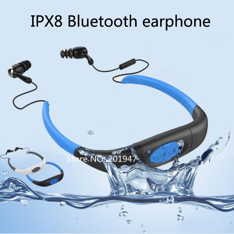 wireless sport bluetooth earphone ipx8 waterproof bluetooth headset music stereo with mic noise. Black Bedroom Furniture Sets. Home Design Ideas