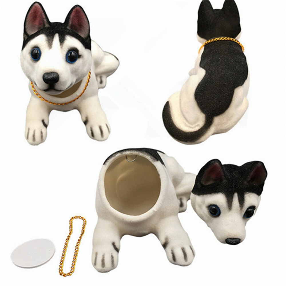 Car Shaking Head Dog Ornaments Car Swing Dog Nodding Dog Doll Car Decoration
