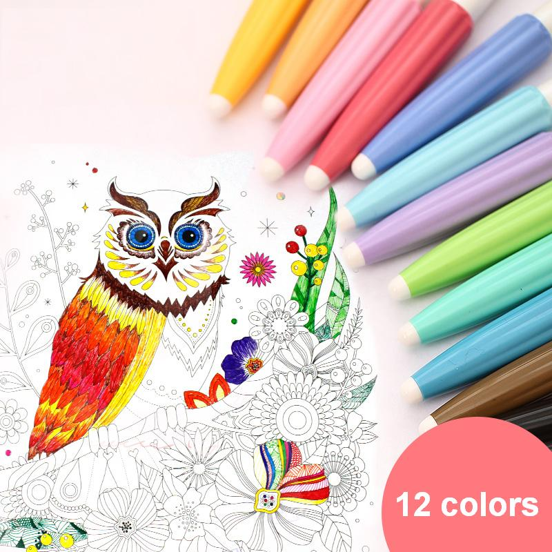 1 Pack 12 Colors Colorful Gel Pen Liquid-Ink 0.38mm Core Drawing School And Office Deli A32356 fine tech gel pen 12 pack black ink
