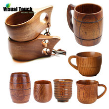 Visual Touch 16 Styles Portable Outdoor Kuksa Wood Beer Mug Wooden Tea Cup Handmade Milk Coffee Beer Drinking Rubber Wood Mugs cheap CN(Origin) Beer Mugs Personality With None Handgrip CE EU Stocked Eco-Friendly Natural Wood As Picture Non-Toxic BPA Free And Safe For Food Liquids Use