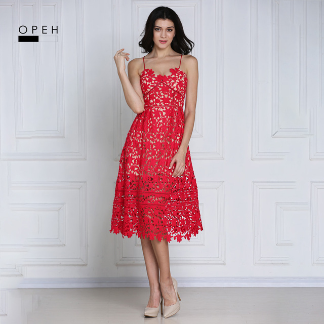 Knee Length Lace Dresses