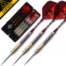 New CUESOUL 23g 25g 27g Professional Darts Steel Tip Darts Red Dart Shaft With Red Dart Flights