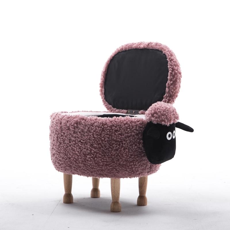 Divers Nouveau Chaise Enfants 2018 Mouton Boîte Rangement Personnalisation Bois Dessin Animé Organisateur Personnalisée Animal De Tabouret 5TcuKlJF13