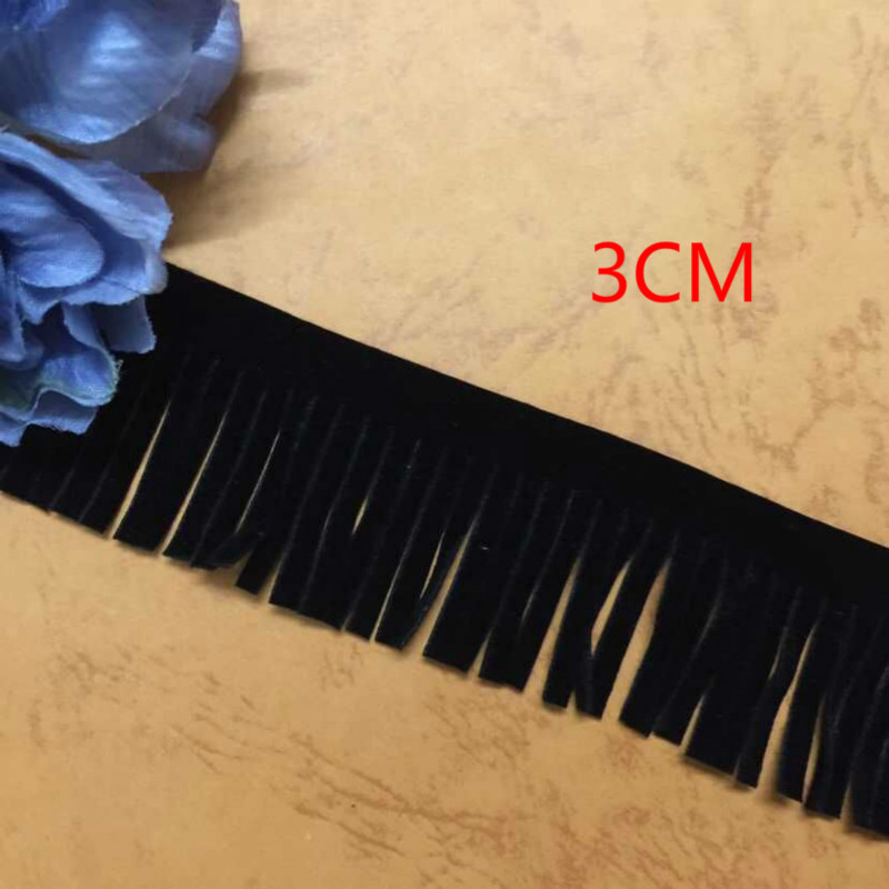 3 Cm Wide Suede Tassel Leather Soft Fringes Trimming Lace Diy Handmade Clothes Accessory