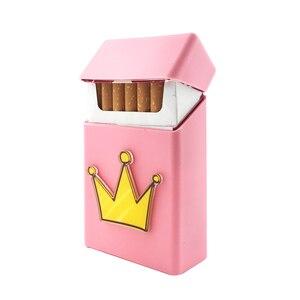 Image 5 - New Cute 3D Badge Silicone Cigarette Box Cigarette Case Cover Smoking Accessories 20 Cigarettes Box Cigarette Holder Tobacco Box