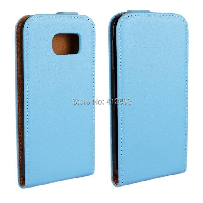 7d48adbc9da 1 unids nueva llegada Cuero auténtico Flip piel bolsa arriba y Abrigos de  plumas funda para Samsung Galaxy S6 g9200 con 11 bolso del teléfono del  color