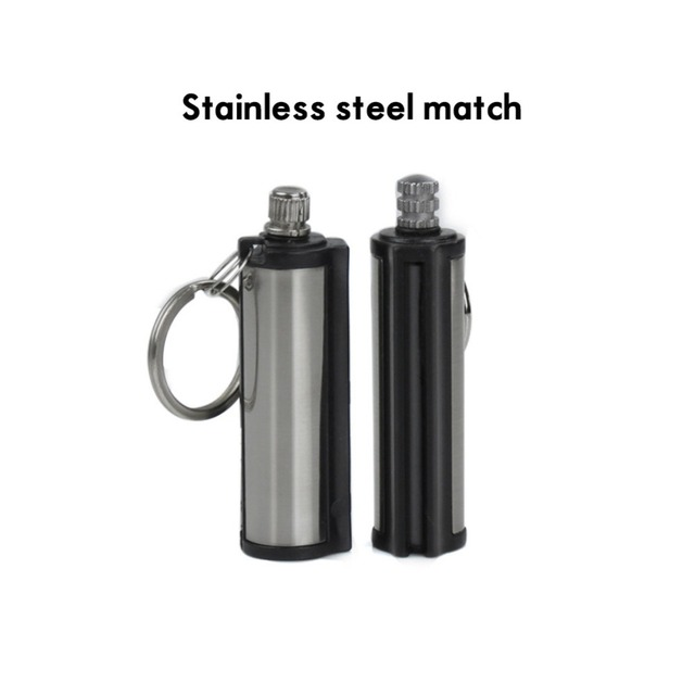 Permanent Matches Oil Striker Lighter with Key Chain