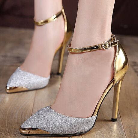 size 49 silver golden spring women shoes new elegant high heels shoes women pumps zapatos mujer chenk foot lengthin womenu0027s pumps from shoes on