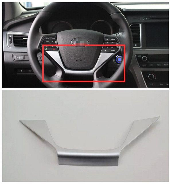 Interior Accessories Steering Wheel Cover Chrome For Hyundai Sonata