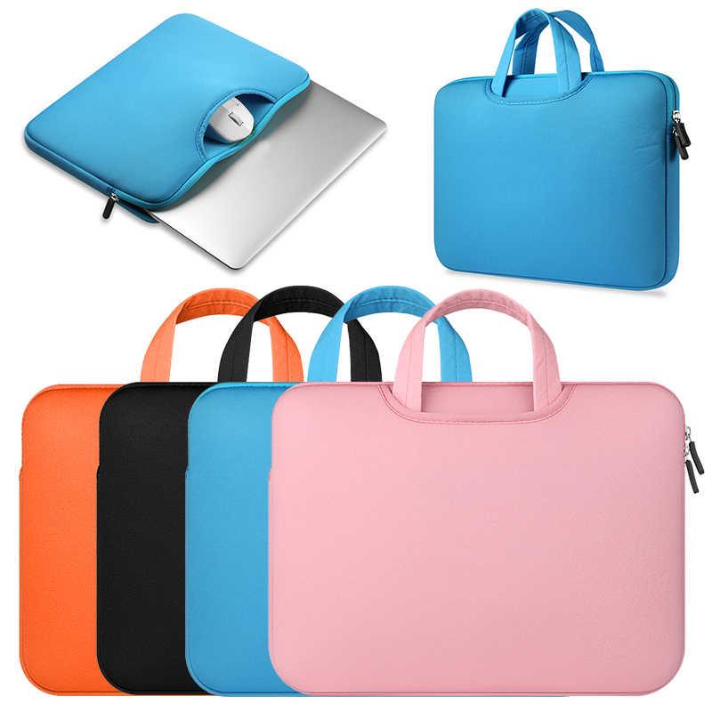 بيع كامل 1 قطعة كمبيوتر محمول حقائب مقاومة للماء كم دفتر حالة لينوفو ماك بوك الهواء 11 12 13 14 15 15.6 بوصة غطاء برو سستة حقيبة