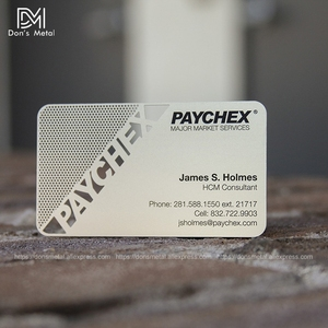 Image 5 - Personalizing concave convex cutout  quality stainless steel business metal card Metal business card metal membership card desig