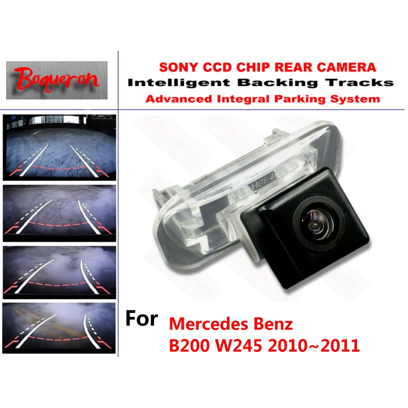 for Mercedes Benz B200 W245 2010 2011 CCD Car Backup Parking Camera Intelligent Tracks Dynamic Guidance