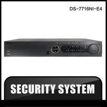 HIK DS-7716NI-E4 original export English version NVR 16ch 4SATA CCTV 4HDD supporting alarm, no POE NVR for CCTV camera IP camera