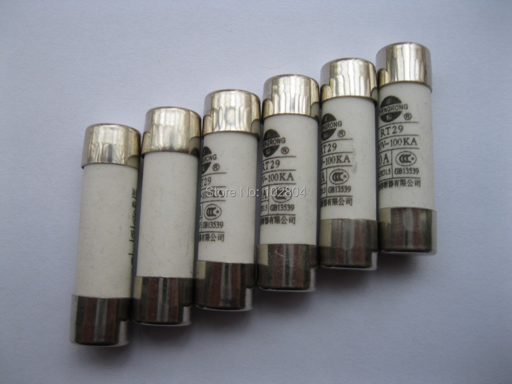 Powder Filled Cartridge Cylindrical Ceramic Fuse 10mmx38mm 380V 2A 100 pcs per Lot