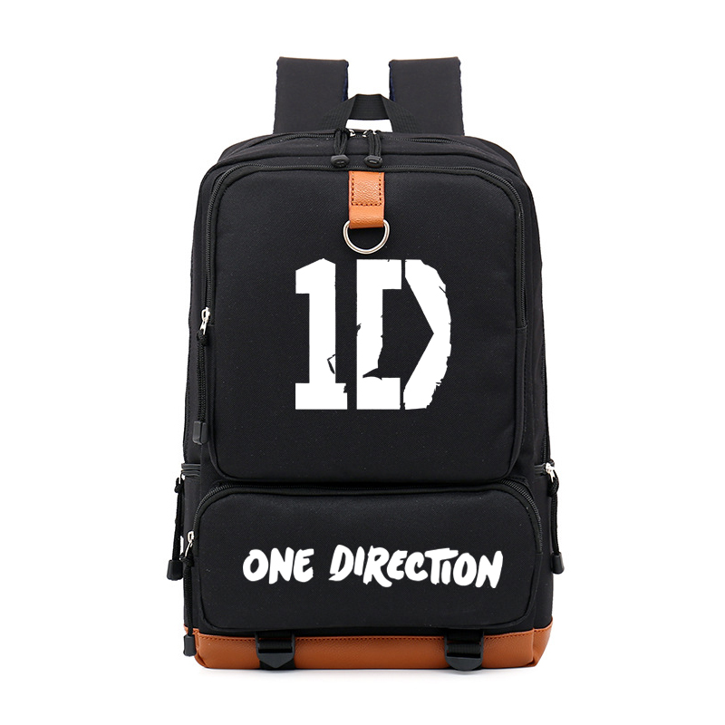 One Direction Music Singer Bag Students Backpacks Cartoon Laptop School  Bags Boys Student Backpack for Girls b73bb56397ba2