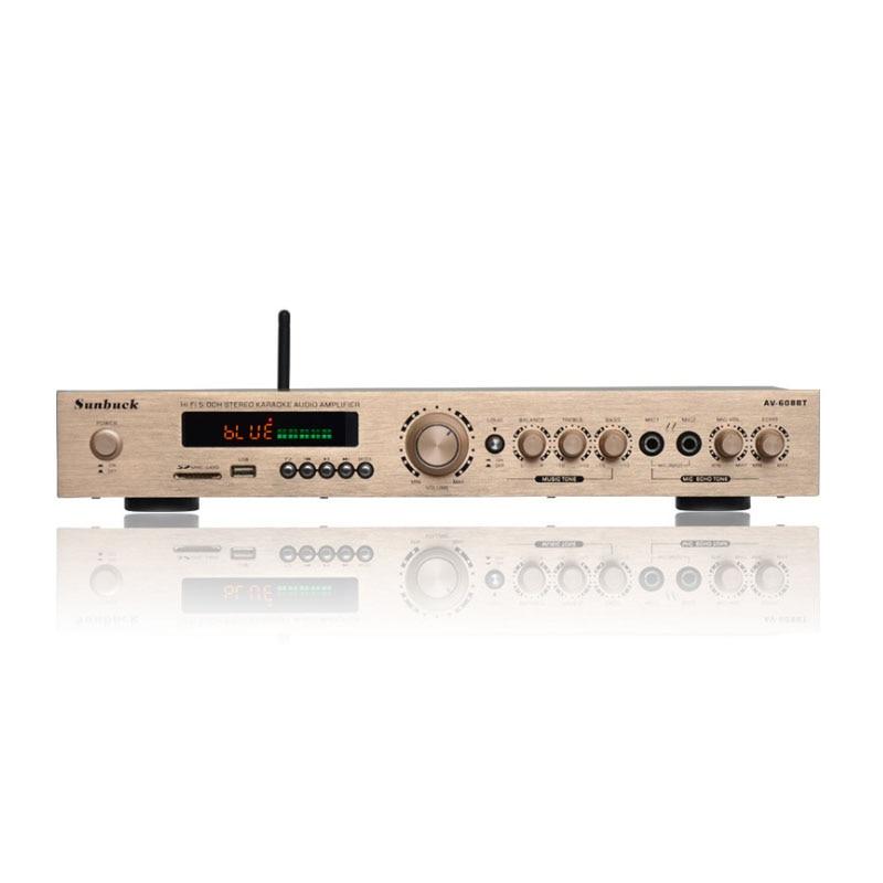 цена на 5.1 channel home theater home amplifier high power stage radio Bluetooth power amplifier AV-608BT