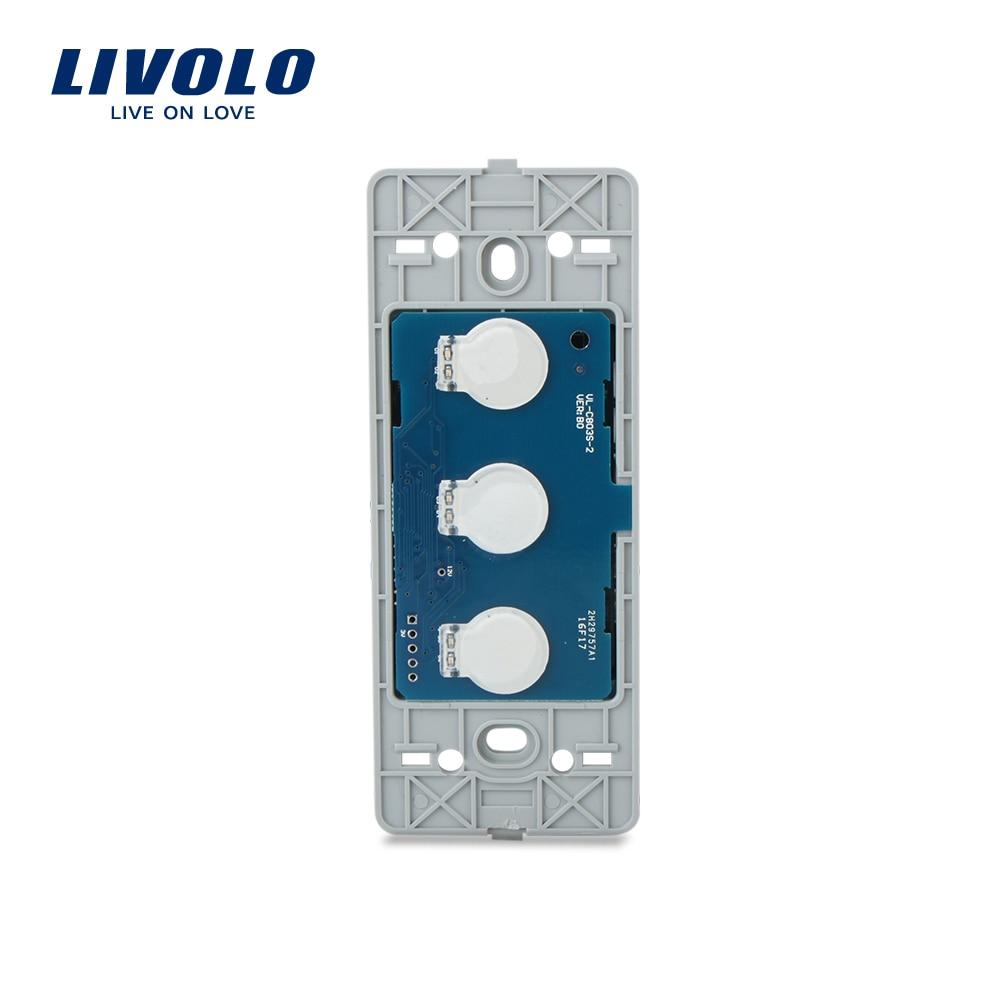 Livolo US standard Base Of  Wall Light Touch Screen Switch ,3Gang 2Way, AC 110~250V ,VL-C503S