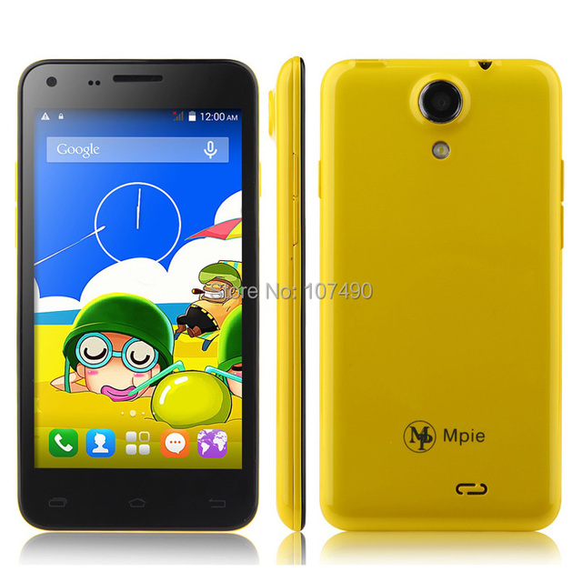new Mpie Mini 809T Mobile phone MTK6582 Quad core 4.5 Inch IPS capacitive touch screen 854 x 480 pixels 3G WiFi GPS Bluetooth