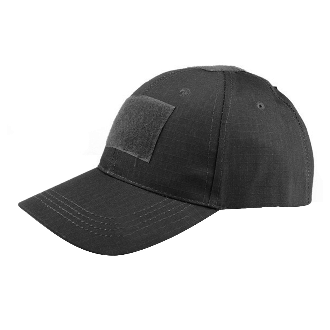 Surwish Solid Color Military Tactical Hat Outdoor Activities Cap  For Nerf And For Airsoft Game - Black