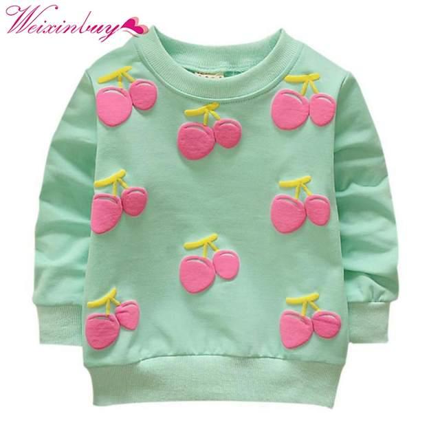 27664ea8f placeholder Primavera Do Bebê Do Outono Criança Crianças Meninas Camisolas  de Algodão de Mangas Compridas de Inverno