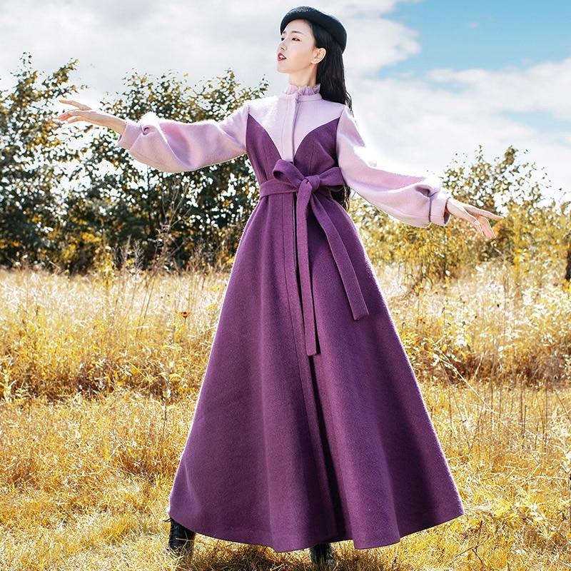 무료 배송 2019 새로운 패션 긴 맥시 가을과 겨울 빈티지 트렌치 드레스 여성 boshow 겉옷 S L 랜턴 슬리브-에서울 & 블렌드부터 여성 의류 의  그룹 1