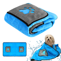 Super Absorbent Pet Bath Towel Blanket Cotton Big Dog Towels Microfiber for Dogs Pet Bathing Grooming Tool for Large Dogs