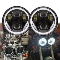 2pcs Headlamp 5.75 inch LED Headlights for Triumph Rocket iii 3 & Speed Triple & Street Triple 5 3/4 Headlamp For Iron 883 Dyna