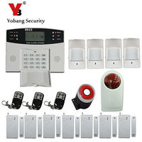 2016 Hot Sale LCD Wireless Gsm Alarm System With Keyboard 433mhz Voice Prompt Home Security Alarm