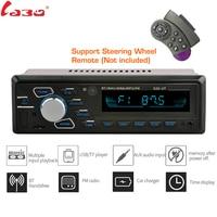 LaBo Bluetooth Car Stereo Radio FM Aux Input Receiver SD USB MMC + volante Control remoto 12V 1 din Car MP3 Multimedia Player