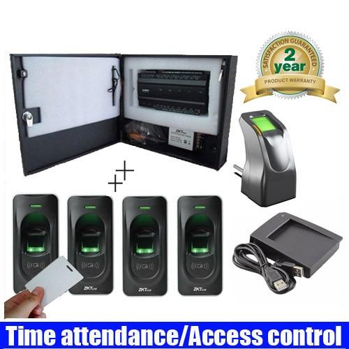 original 4 Door INBIO 460 Fingerprint with Card Access Control System Kit with original Power Supply Box biometric fingerprint access controller tcp ip fingerprint door access control reader