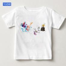2019 summer children Oggy cartoon t-shirts and childrens cockroaches t shirt boys girls T-shirts short sleeve YUDIE
