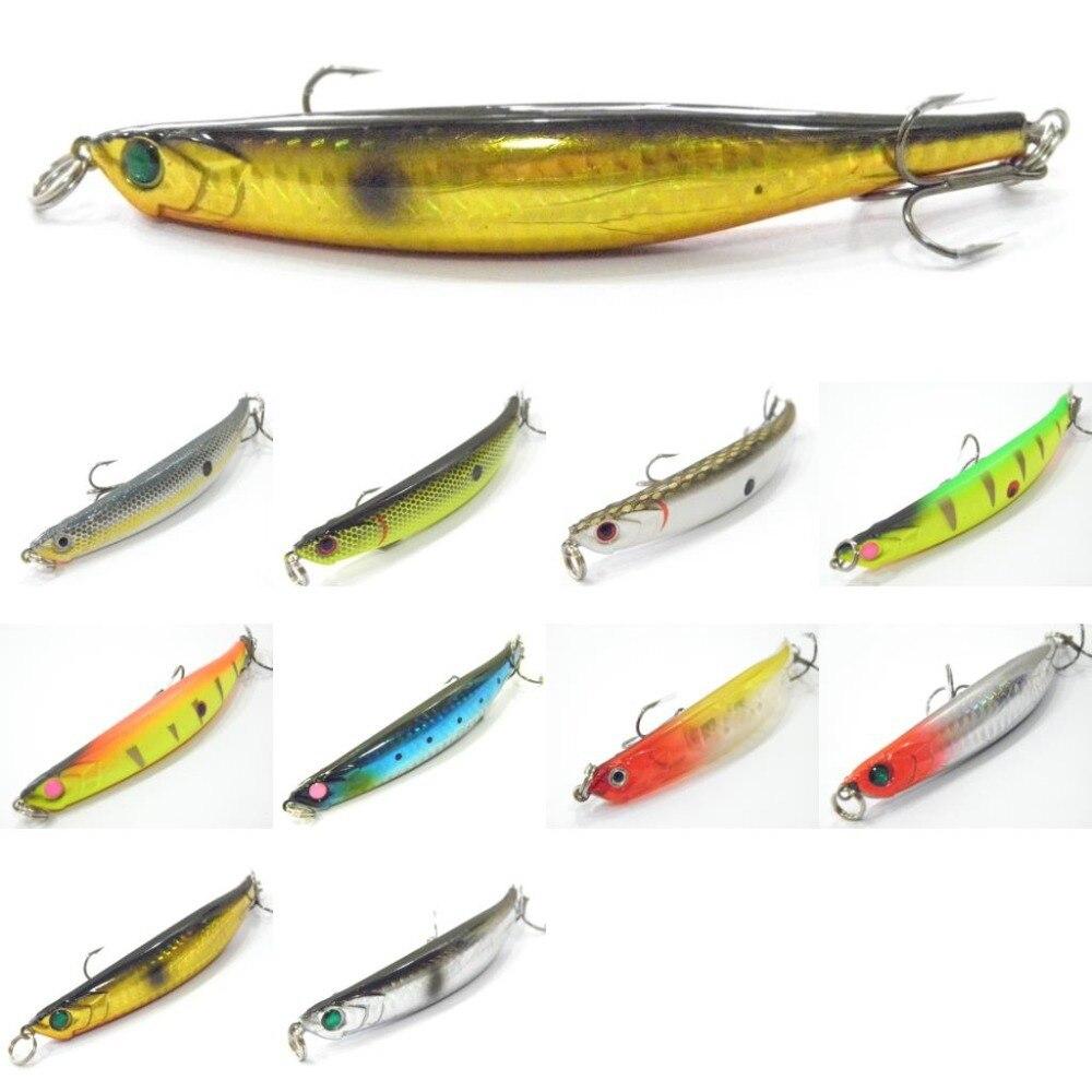 wLure Fishing Lure Slow Sinking Hard Bait Dying Minnow Fish 11.6g 11.4cm W625